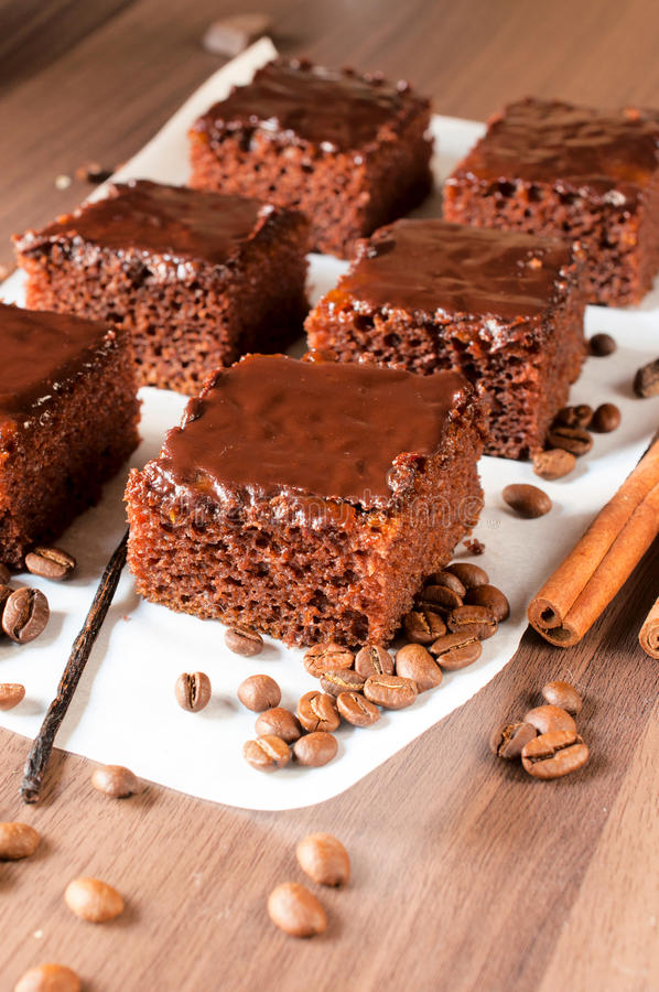 Schokoladenzeit stockfoto