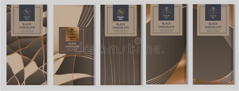 Schokoriegel-Verpackungsspott aufgestellt Elemente, Aufkleber, Ikone, Rahmen stock abbildung