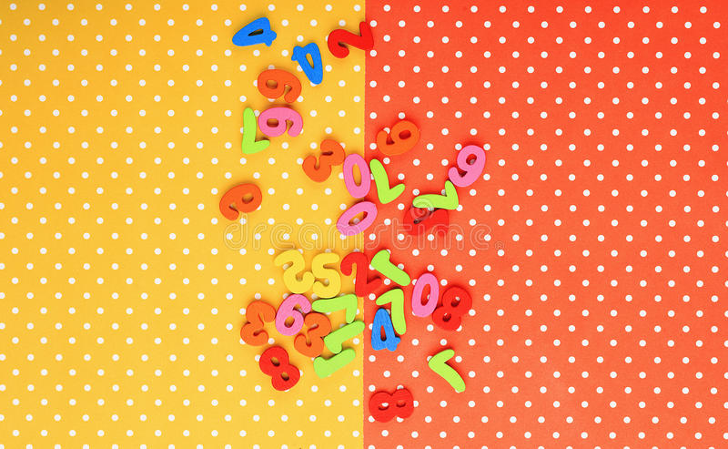 assorted numbers  on white background  stock illustration