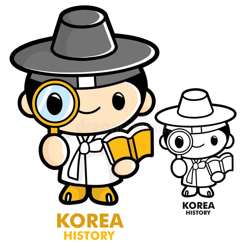 Download Scholars Studying The History Of Korea Stock Illustration - Illustration of indicate, applications: 26846773
