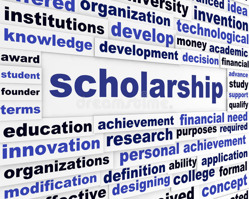 Scholarship conceptual message design royalty free illustration