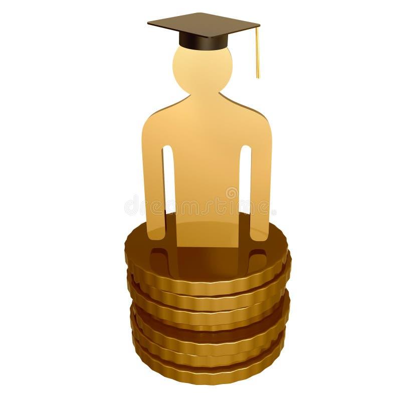 Download Scholarship fund icon stock illustration. Image of white - 14089066