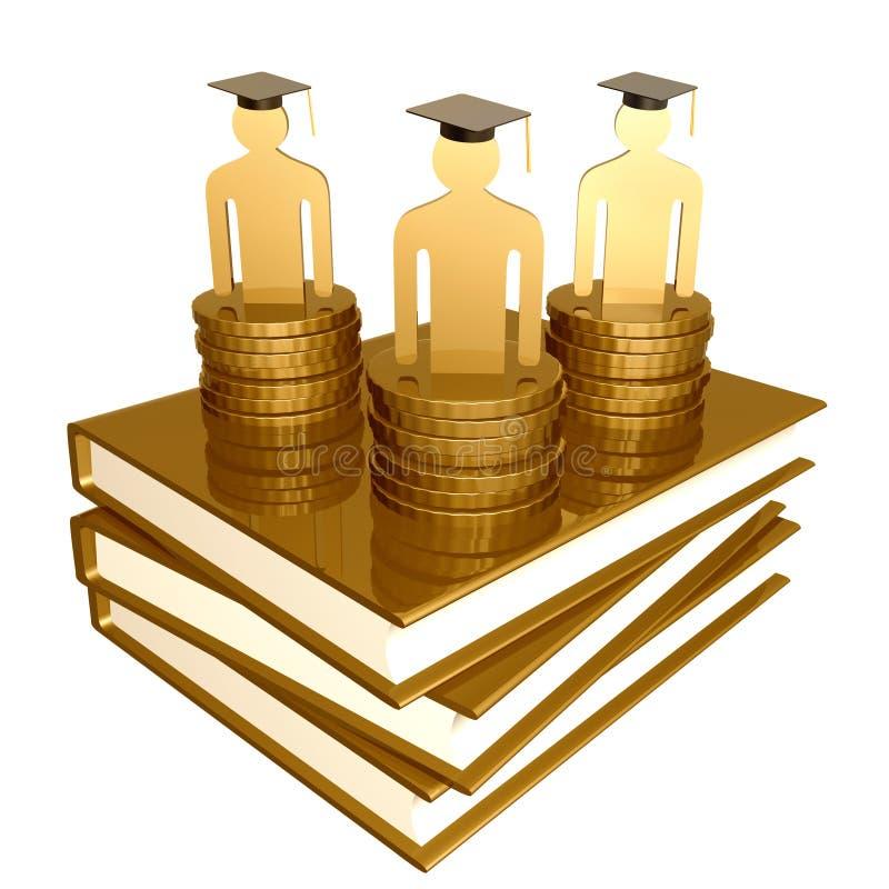 Download Scholarship And Graduation Golden Books Symbol Stock Illustration - Image: 14089233