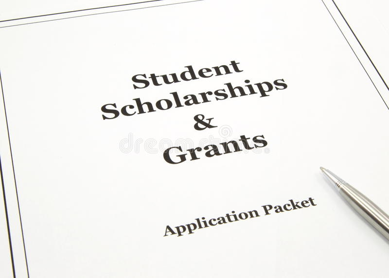 Scholarship And Grants Application Packet Stock Photos
