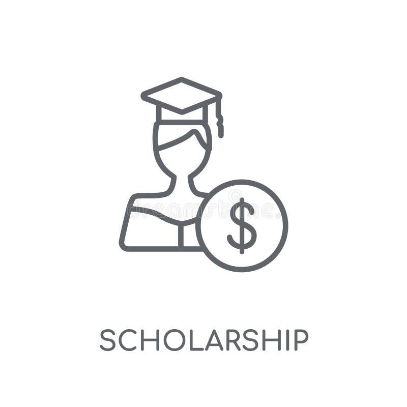scholarship linear icon. Modern outline scholarship logo concept vector illustration