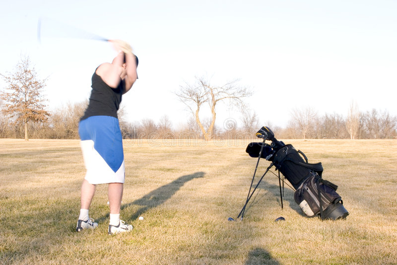 Schommeling 2 Van Het Golf Stock Afbeelding
