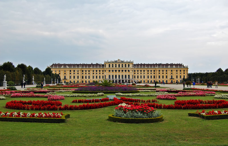 Schonbrun palace royalty free stock photos