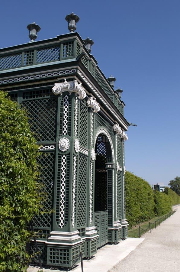 schonbrunn de stationnement de palais d'horizontal photographie stock libre de droits