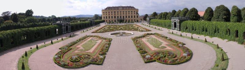 Schonbrunn garden panorama