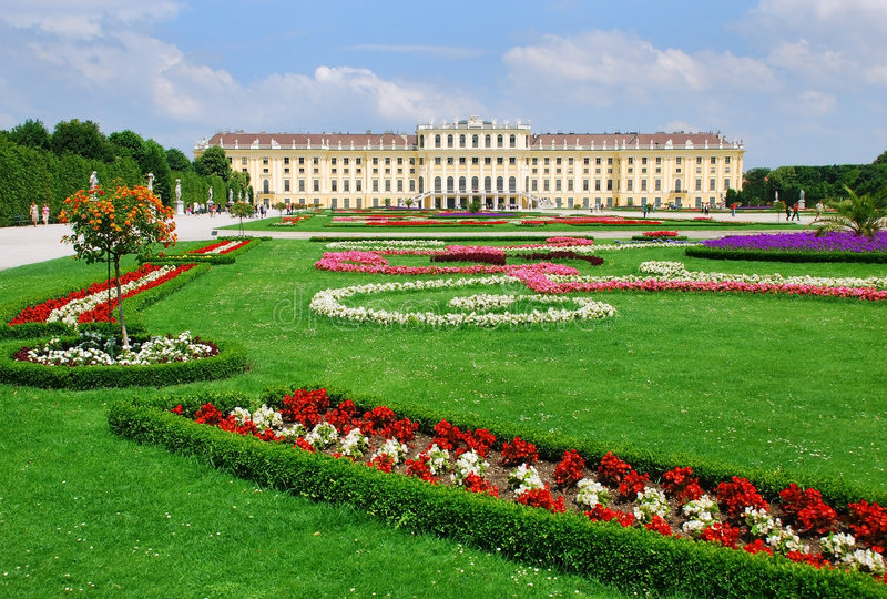 Schonbrunn Palace stock photography