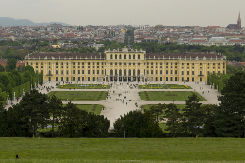 Schonbrunn Palace, Austria. View from the pavilion of the GLORIETTA stock photography