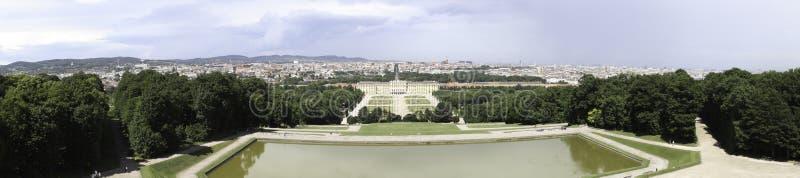 Schonbrunn Palace Garden Panorama Stock Photo