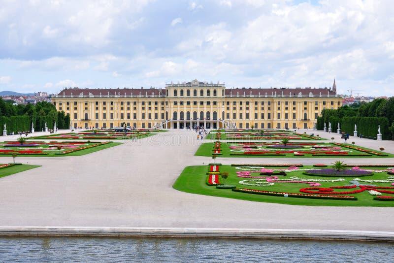 Schonbrunn Palace and park, Vienna, Austria stock images