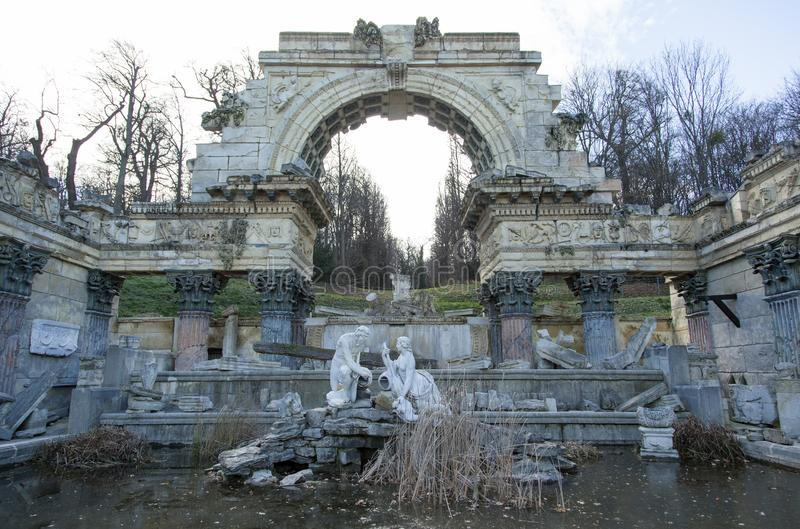 Schonbrunn Palace Roman Ruins Monument royalty free stock photography