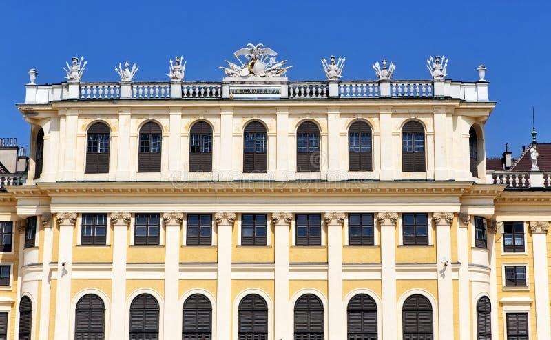 Schonbrunn Palast in Wien, Österreich stockfotografie