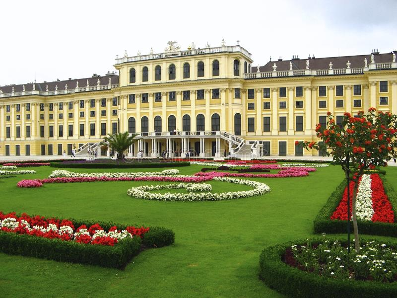 Schonbrunn Palast in Wien, Österreich stockbilder
