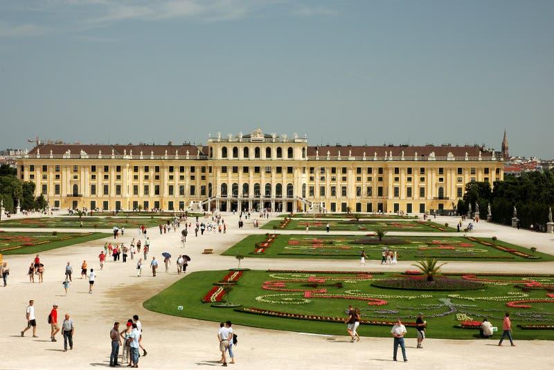 Schonbrunn Palast in Wien lizenzfreies stockbild