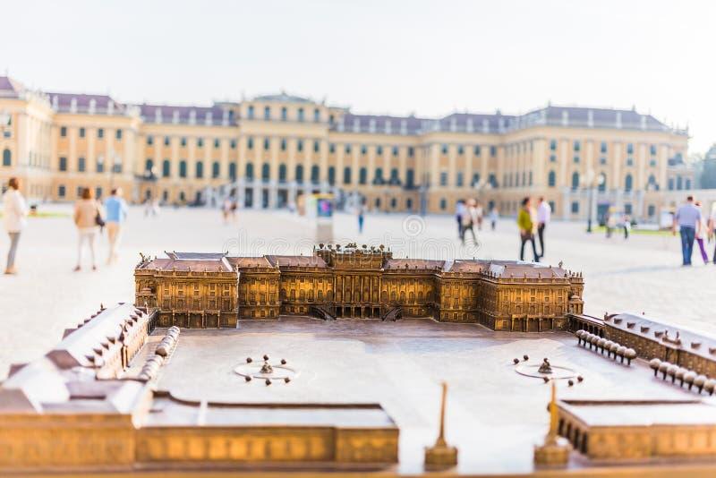 Schonbrunn-Palastmodell in Wien lizenzfreies stockbild