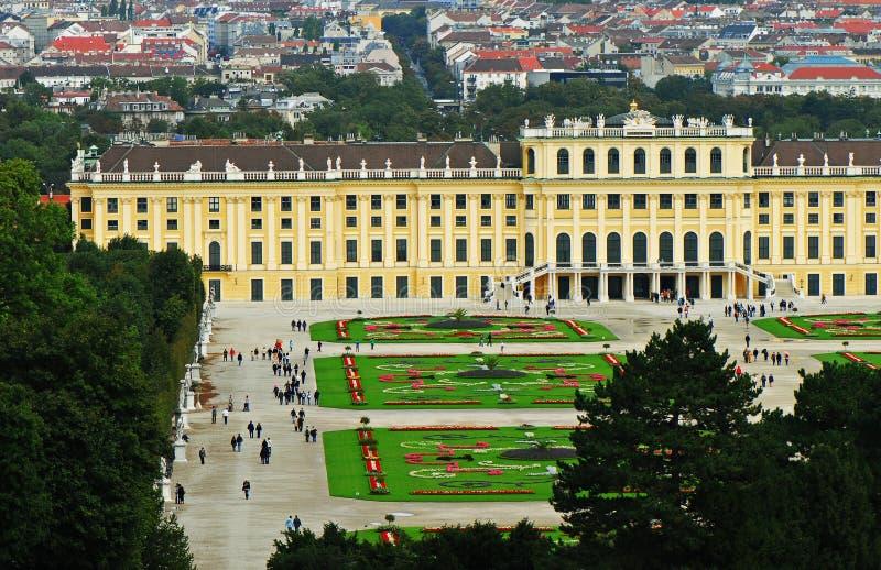 schonbrunn Vienna aus pałacu zdjęcie royalty free