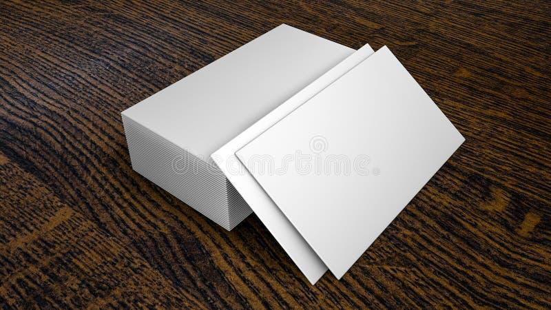 Schone adreskaartjes op houten het 3d teruggeven vector illustratie