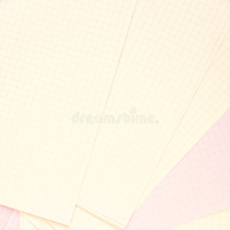 Schone die pagina's in een kooi, op een lijst worden opgemaakt royalty-vrije stock afbeelding