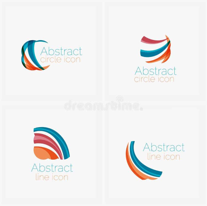 Schone elegante cirkel gevormde geometrische samenvatting stock illustratie
