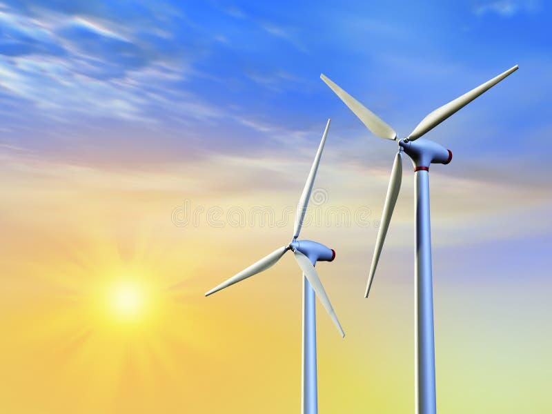 Schone energie stock illustratie