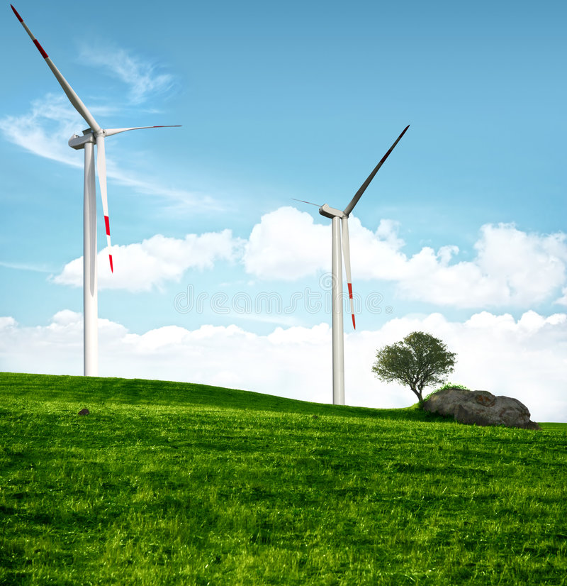 Schone energieconcept royalty-vrije stock foto's