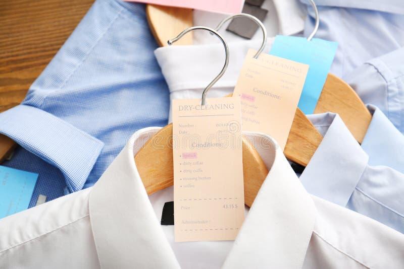 Schone kleren na stomerij royalty-vrije stock foto