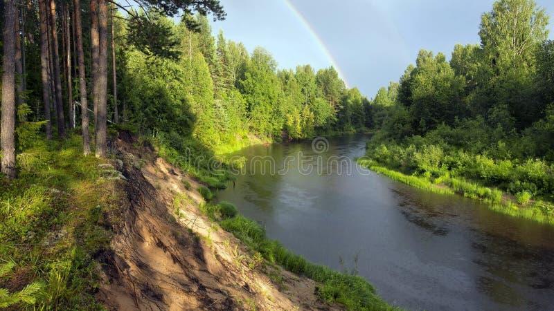 schone rivier royalty-vrije stock afbeelding