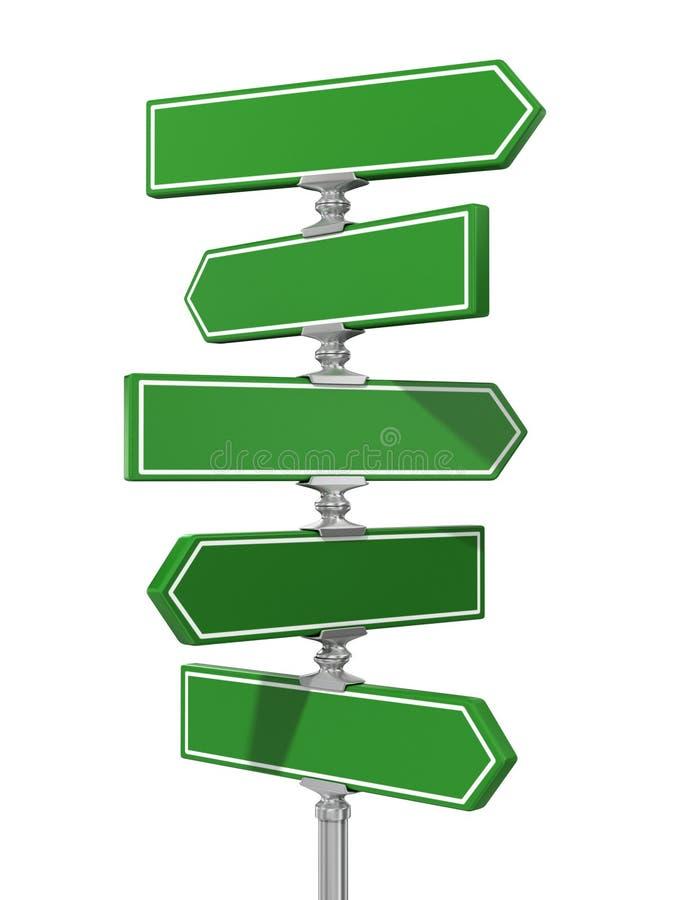 Schone spatie van verkeersteken stock illustratie