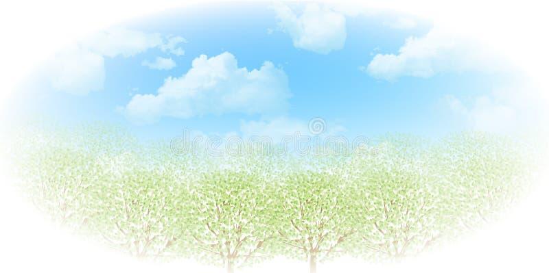 Schone verse groene illustraties als achtergrond stock illustratie