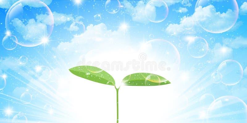 Schone verse groene illustraties als achtergrond vector illustratie