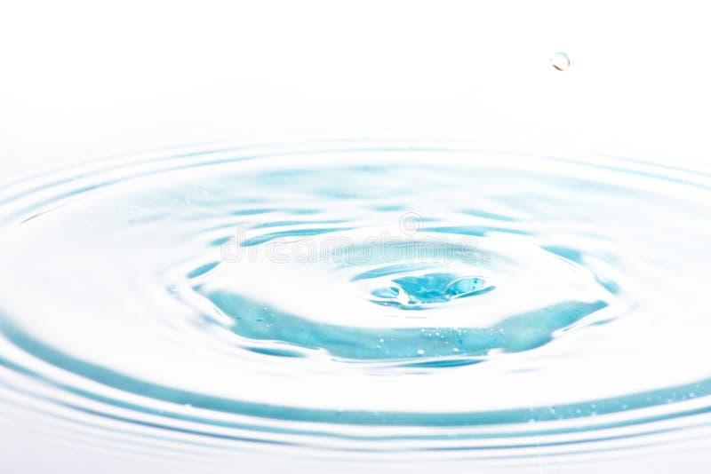 Schone water en waterbellen stock foto
