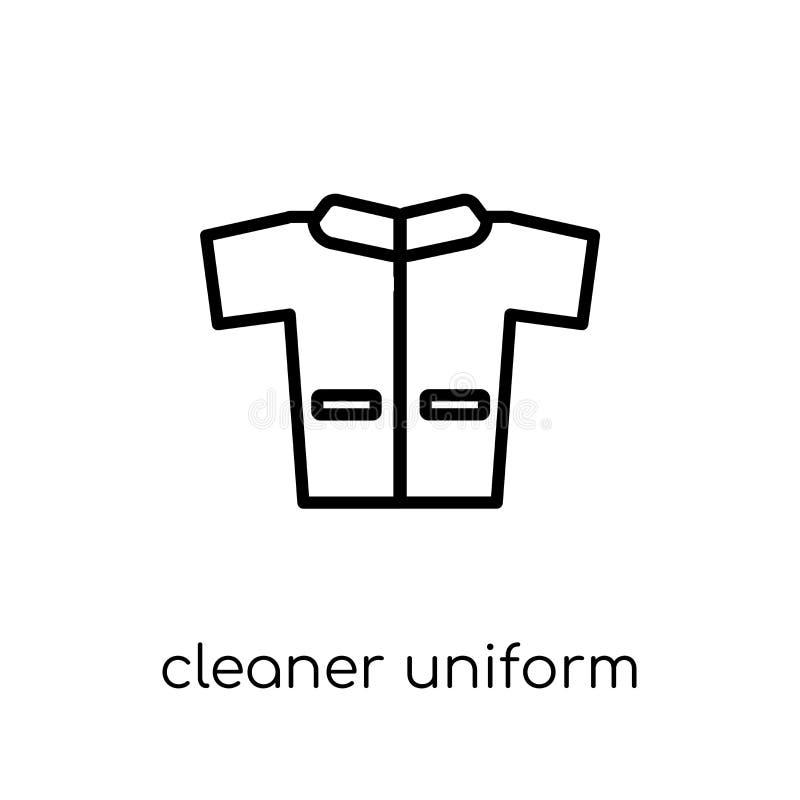 Schoner Eenvormig pictogram In modern vlak lineair vector Schoner U stock illustratie