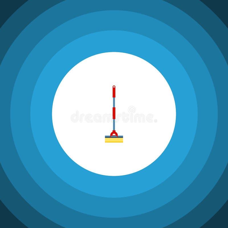 Schoner Vlak Pictogram Kan het bereik Vectorelement voor Bereik, Reinigingsmachine, het Concept van het Zwabberontwerp worden geb vector illustratie