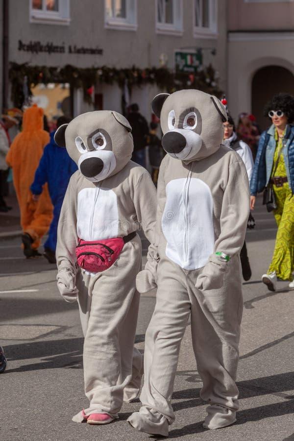 Schongau, Deutschland, Bayern 03 03 2019: Karnevalsprozession im bayerischen Schongau lizenzfreies stockfoto