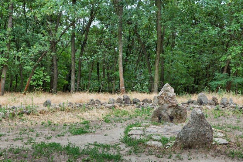 Schongebiet auf der Insel von Khortytsia, Ukraine lizenzfreie stockfotos