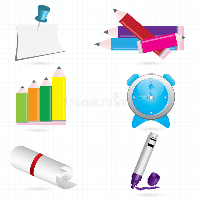 Download School stock vector. Image of face, clock, draw, graphic - 15915495