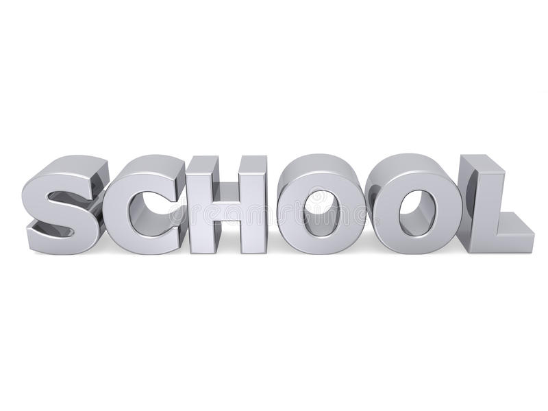 Download School 3D With Metal Texture Royalty Free Stock Images - Image: 10565569