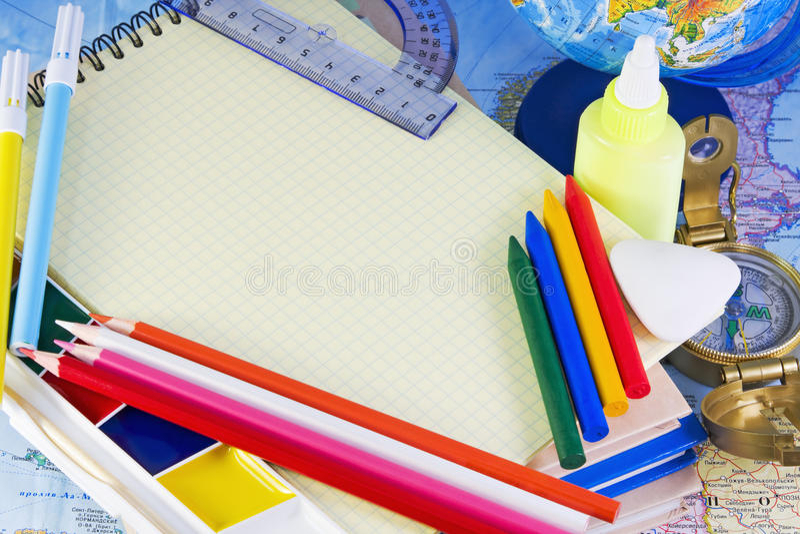 Download School accessories stock image. Image of blank, horizontal - 15516153