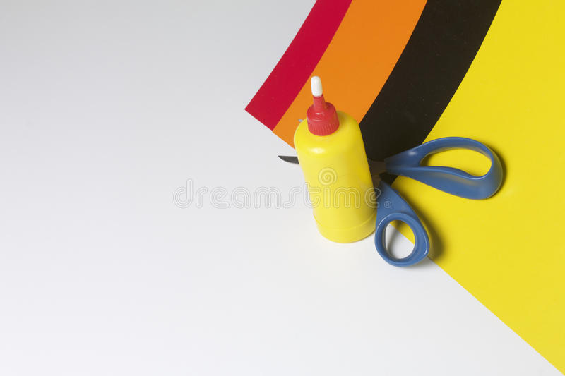 School accessories for creativity. royalty free stock photos