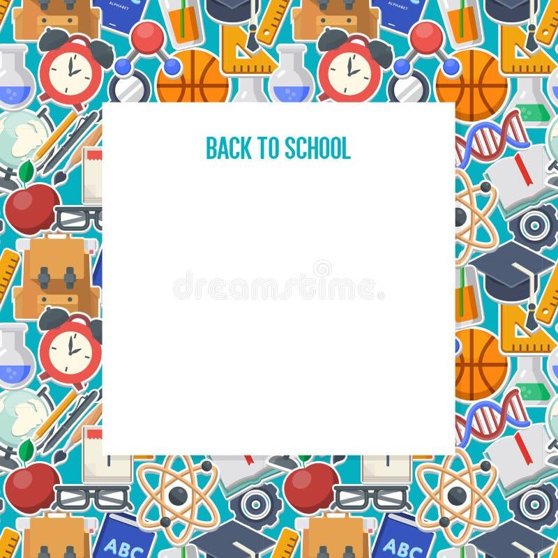 School achtergrondconcept royalty-vrije illustratie
