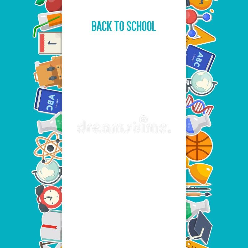 School achtergrondconcept stock illustratie