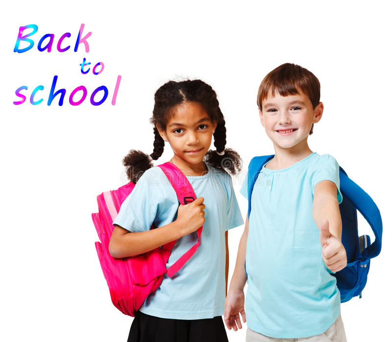 School aged kids stock images