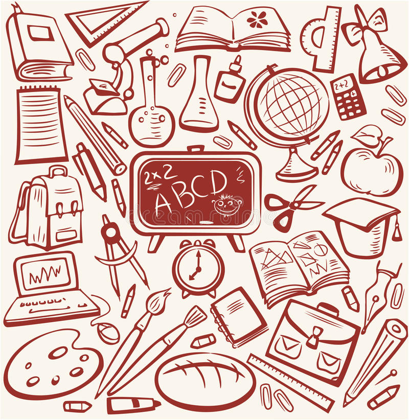 Free School And Education Sketch Set Royalty Free Stock Images - 10692619