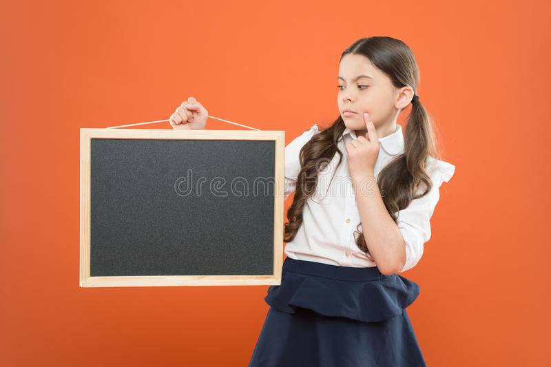 School announcement concept. Informing kids changes in school life. Good news for pupils community. Educational program royalty free stock photo