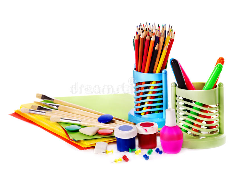 School art supplies stock photo image of brush craft for Arts and crafts for school