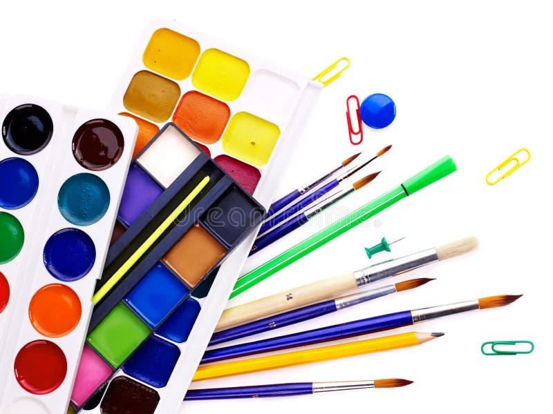 School art supplies stock photography