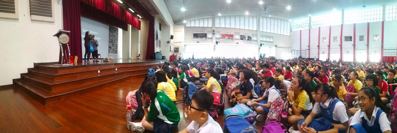 School assembly hall royalty free stock photo
